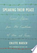 Speaking Their Peace