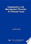 Organisation and Management Theories  an African Focus