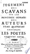 Jugemens des Savants