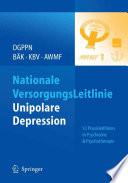 Nationale VersorgungsLeitlinie - Unipolare Depression