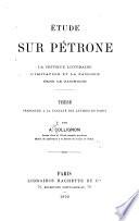 Étude sur Pétrone