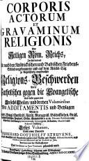 Corporis actorum et gravaminum religionis des Heiligen Röm. Reichs