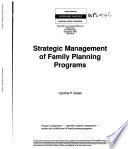Strategic Management Of Family Planning Programs