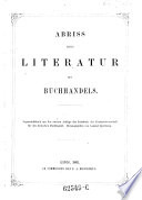 Abriß einer Literatur des Buchhandels