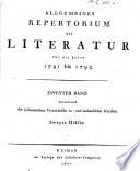 Allgemeines Repertorium der Literatur