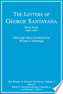 The Letters of George Santayana  1941 1947