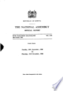 Kenya National Assembly Official Record  Hansard
