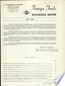 Foreign Trade Statistics Notes