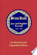 Jazz and Ragtime Records  1897 1942   A K