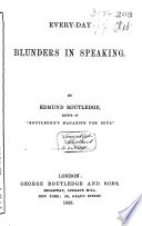Every day Blunders in Speaking