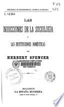 Las inducciones de la sociología y las instituciones domésticas