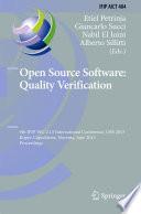 Open Source Software  Quality Verification
