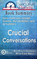 Book Summary Crucial Conversations