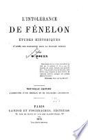 L'Intolerance de Fénelon