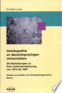 Homöopathie an deutschsprachigen Universitäten