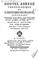Nouvel Abrégé chronologique de l'histoire de France