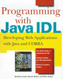 Programming With Java Idl book