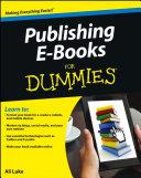 Publishing E Books For Dummies