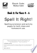 Spell It Right 2 40 Themes With Activities Including Word Building Sentences