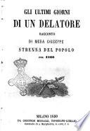 Gli ultimi giorni di un delatore racconto di Meda Giuseppe 174  strenna del popolo pel 1860