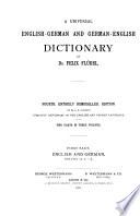Allgemeines englisch deutsches und deutsch englisches w  rterbuch  Englisch deutsch  bd I  A K  bd II  L Z