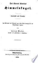 Himmelskugel. Lateinisch und deutsch; im Versmaße des Originales zum 1. Male übers. und mit Anm. begleitet von Joseph Merkel