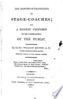 The Danger of Travelling in Stage coaches