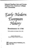Early modern European history   Renaissance to 1789