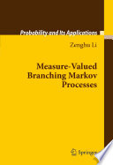 Measure Valued Branching Markov Processes