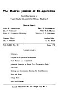 The Madras Journal Of Co Operation