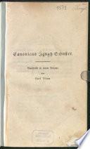 Canonicus Ignatz Schuster