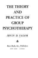 The Theory and Practice of Group Psychotherapy Book PDF
