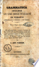 Grammatica inglese ad uso degl italiani semplicizzata e ridotta a 21  lezioni di Vergani