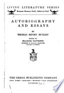 Autobiography and Essays