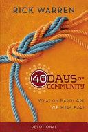 40 Days of Community Devotional