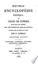 Nouvelle encyclop  die po  tique    pigrammes  Madrigaux    pitaphes  Inscriptions  Impromptus