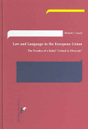 Law And Language In The European Union