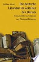Die deutsche Literatur im Zeitalter des Barock