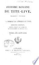 Histoire romaine de Tite Live  Suppl  ments de Freinsh  mius  livre 53 54  Fragment du livre XCI  CXXX  Table m  thodique et analytique des hommes et des choses