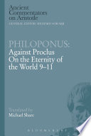 Philoponus  Against Proclus On the Eternity of the World 9 11