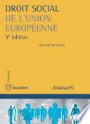Droit Social De L Union Europ Enne
