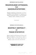 Maandelikse Uittreksel Van Handelstatististieke