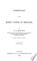 Commentary on the Hindu system of medicine Book PDF