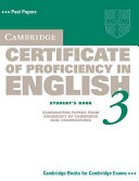 Cambridge Certificate of Proficiency in English 3 Student's Book