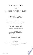 Narrative of an ascent to the summit of Mont Blanc
