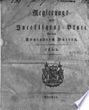 Allgemeines Intelligenzblatt für das Königreich Baiern