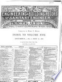 Engineering Record Building Record And Sanitary Engineer