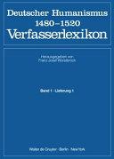 Deutscher Humanismus 1480-1520, Verfasserlexikon