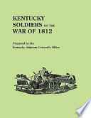 Ebook Kentucky Soldiers of the War of 1812 Epub Kentucky. Adjutant-General's Office Apps Read Mobile