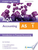 Aqa Accounting As Student Unit Guide Unit 1 New Edition Ebook Introduction To Financial Accounting